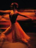 Portrait of a Ballet Dancer Bathed in Red Light, Nairobi, Kenya Lámina fotográfica por Nichols, Michael