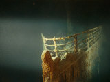 Rusted Prow of the R.M.S. Titanic Ocean Liner, Sunk off Newfoundland, North Atlantic Ocean Fotografisk tryk