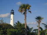 Cape Florida Lighthouse at Bill Baggs State Park Photographic Print by Richard Nowitz