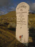 Headstone in the Old Cemetery, Virginia City, Nevada Photographic Print by Phil Schermeister