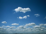 Fluffy White Summer Clouds Over Calgary, Alberta, Canada Photographic Print by Taylor S. Kennedy
