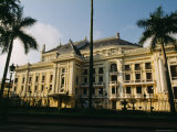 The Hanoi Opera House and Palm Trees Photographic Print by Justin Guariglia