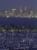Shelter Island Yacht Harbor with Skyline of San Diego, California Photographic Print by Phil Schermeister