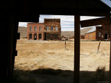 Abandoned Buildings Line the Street of a Ghost Town Photographic Print by Charles Kogod