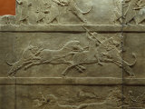 In a Frieze from Nineveh Their Last Ruler, Assurbanipal, Dispatches a Lion in This Sport of Kings Photographic Print by Jr, Victor R. Boswell