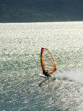 Windsurfer Makes Waves in Baja, Mexico Stampa fotografica di Brown, Skip