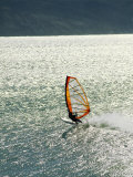 Windsurfer Makes Waves in Baja, Mexico Photographic Print by Skip Brown