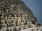 A Close View of the Base of the Great Pyramid of Cheops Photographic Print