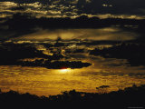 Dramatic Sunset with Clouds Photographic Print