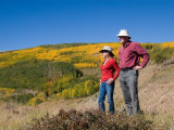 A Couple Admires the Scenery on a Beautiful Fall Day Photographic Print by Taylor S. Kennedy