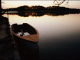 A Half-Sunken Rowboat Along an Inlet of the Chesapeake Bay Photographic Print by Stephen St. John