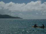 Two People Kayaking on the Caribbean Sea Photographic Print by Todd Gipstein
