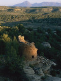 The Remains of a Tower Built by the Anasazi Photographic Print by Melissa Farlow