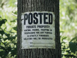 A Posted Sign Warns against Trespassing Photographic Print by Stephen St. John