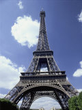 A Scenic View of the Eiffel Tower on a Sunny Day Photographic Print by Todd Gipstein