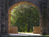 Stone Arches Open onto Campus Photographic Print by Stephen Alvarez