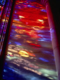 Beautiful Stained-Glass Colors Projected onto a Stone Wall Photographic Print by Stephen St. John