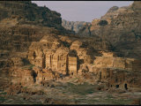 View of a Number of Nabataean Tombs Located East of the City Center Photographic Print by Annie Griffiths