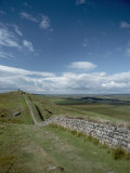 Hadrians Wall Stretches Across the English Countryside Photographic Print