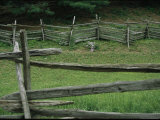 A Traditional Split-Rail Fence at the Farmers Museum Photographic Print by Stephen St. John