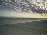 A Scenic View of Clouds Hanging over a Beach Photographic Print by Nicole Duplaix