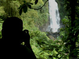 Silhouette of Photographer Taking a Picture of Trafalgar Falls Photographic Print by Todd Gipstein