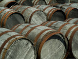 Close View of Several Wooden Barrels Photographic Print by Todd Gipstein