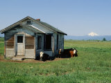 Farm Scene West of Chiloguin, Oregon, Looking Toward Mount Mcloughlin Photographic Print by Phil Schermeister