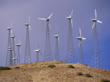 View of windmills on a wind energy farm, Photographic Print