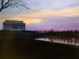 The Lincoln Memorial at Twilight Fotografisk trykk av Charles Martin