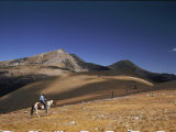 A Horseman Views the Truchas Peaks from Above the Timberline Photographic Print by Justin Locke