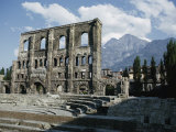 Roman Ruins in Aosta Photographic Print by Walter Meayers Edwards