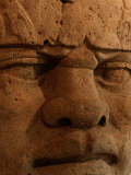 Close View of a Colossal Stone Head Carved by the Olmec Photographic Print by Kenneth Garrett