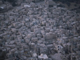 An Aerial View of a Densely Populated Town of Adobe Homes Photographic Print by Jodi Cobb