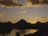 Mount Moran and the Snake Rivers Oxbow Bend at Twilight Photographic Print by Raymond Gehman