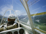 View Inside a Glider Floating Above the Inn Valley Photographic Print by Walter Meayers Edwards