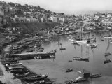 View of One of the Three Ancient Harbors of Piraeus Fotografisk trykk av Maynard Owen Williams