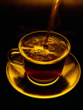 Close View of Coffee Being Poured into a Glass Cup Photographic Print by Sam Abell
