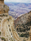 A Muleback Party Comes up the Kaibab Trail Photographic Print by Justin Locke