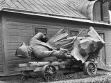 A Statue of Peter the Great Resting on a Wagon Photographic Print by Maynard Owen Williams