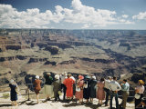 A Group of Visitors at Hopi Point on the South Rim of the Grand Canyon Photographic Print by Justin Locke