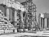 Scaffolding Used During Restoration Work on the Parthenon Photographic Print by W. Robert Moore