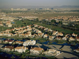 An Aerial View of a Prefabricated Housing Development in Las Vegas Photographic Print by Maria Stenzel