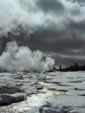 Old Faithful Geyser, Upper Geyser Basin Photographic Print by Raymond Gehman