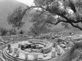 Ruins in the Marmaria Section, Beyond the Castalian Spring Photographic Print by Maynard Owen Williams