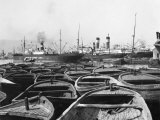 A Crowded Section of the Harbor in Piraeus Photographic Print by W. Robert Moore