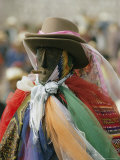 A Figure Dressed up for a Religious Celebration in Santiago Photographic Print by Joe Scherschel
