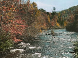 An Autumn Scene Along Little River in Tennessee Photographic Print