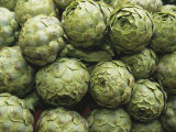 Artichokes at an Open Air Market Photographic Print by Nicole Duplaix