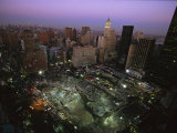 An Aerial View of Ground Zero and Surrounding Buildings Photographic Print by Ira Block